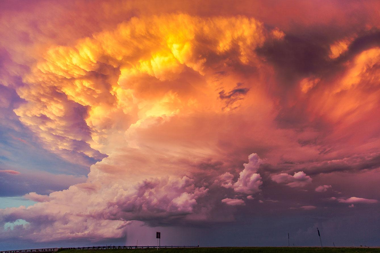stormcloud at sunset